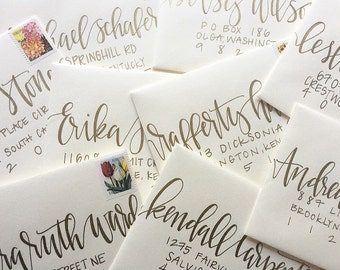 Hand Addressed Wedding Envelopes