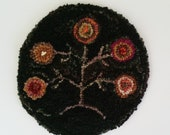Hooked Rug Primitive Tree Of Life Penny Hooked Rug Sale Beacohillcollect Penny Tree Of Life Hooked Rug