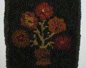 Hooked Rug 5 Penny Flower Pot PDF Format Pattern Only Beaconhillcollect Hooked Rug Flower Pot