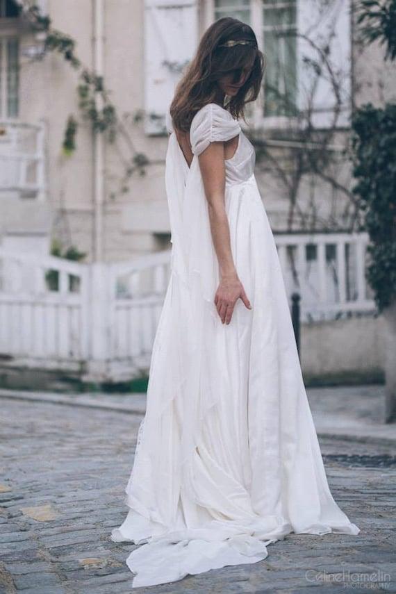 Morgane Brautkleid aus reiner Seide und Chiffon.