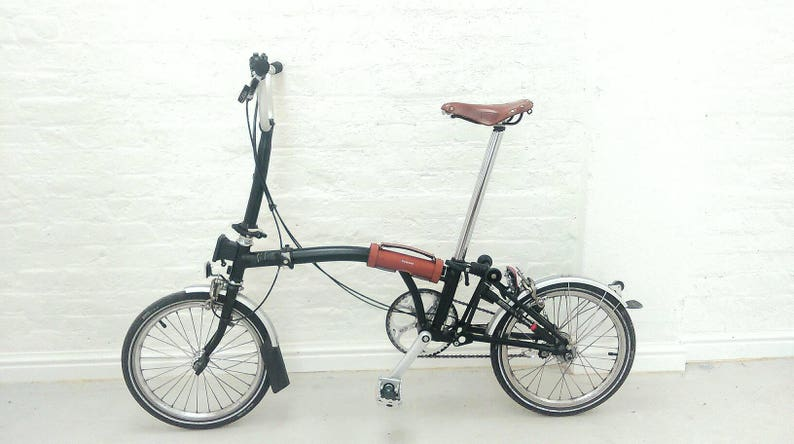 Leather Brompton carry handle