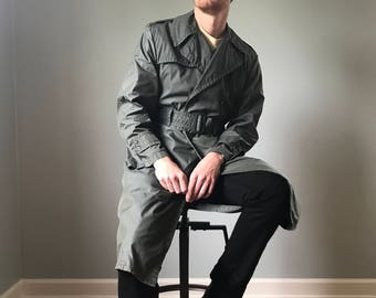 Vintage 60s/70s Era Authentic Army Trench Coat