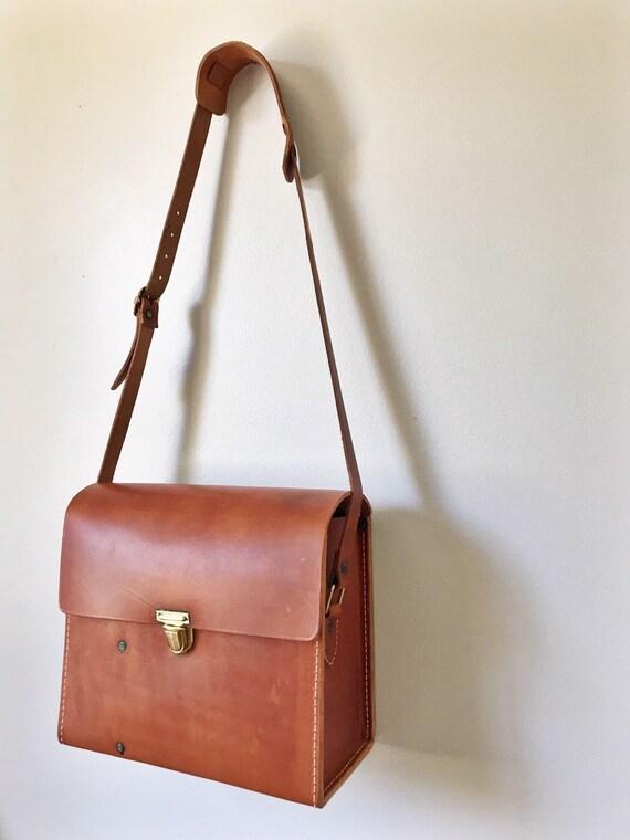 Vintage Leather Satchel Camera Bag