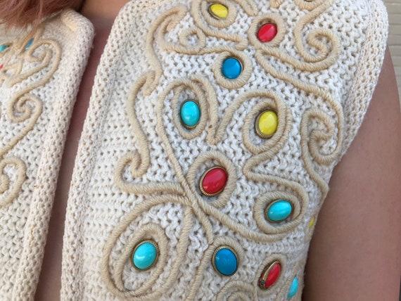 Vintage 60s Rare I. Magnin Cropped Sweater Vest - image 3