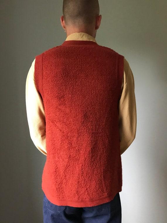 Vintage 70s Rust Sweater Vest - image 7