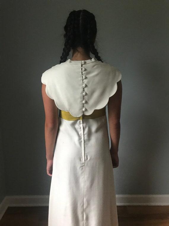 Vintage Ivory Bridesmaid Dress w/ Button Back - image 7