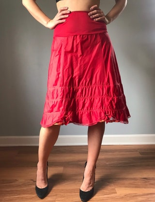 Vintage 50s Red Petticoat