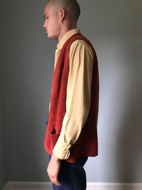 Vintage 70s Rust Sweater Vest - image 6