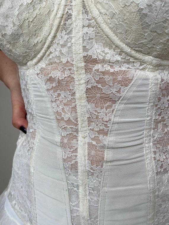 Vintage Bridal Lace Corset - image 6