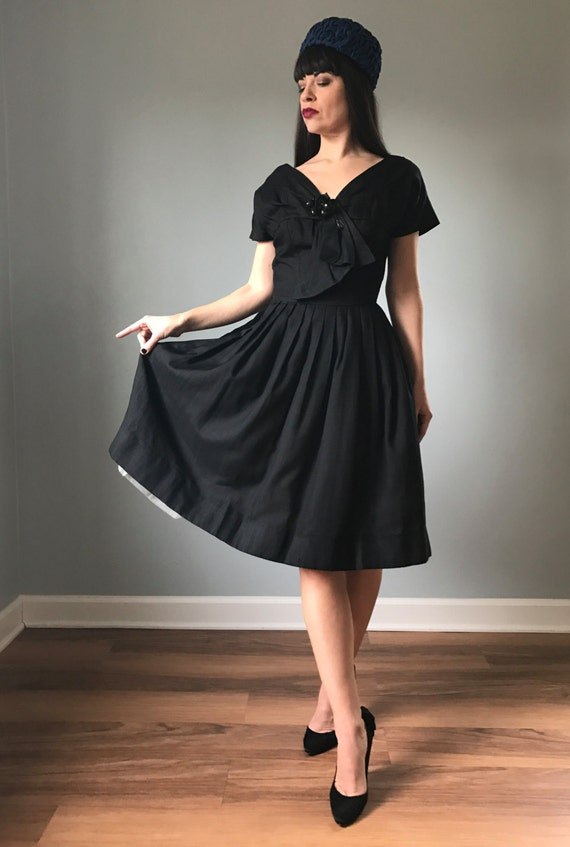 "Vintage 50s New Look Suzy Perette Dress 26"" waist"