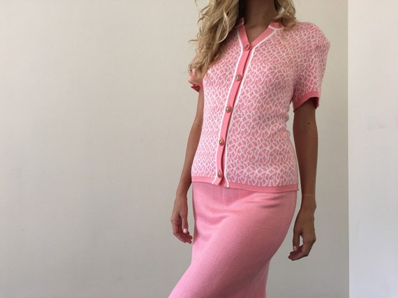 Vintage Pink Sweater Suit Seperates