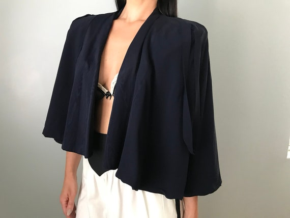 Vintage 30s Navy Capelet