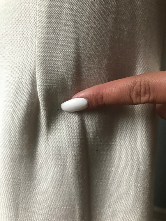 Vintage Ivory Bridesmaid Dress w/ Button Back - image 10