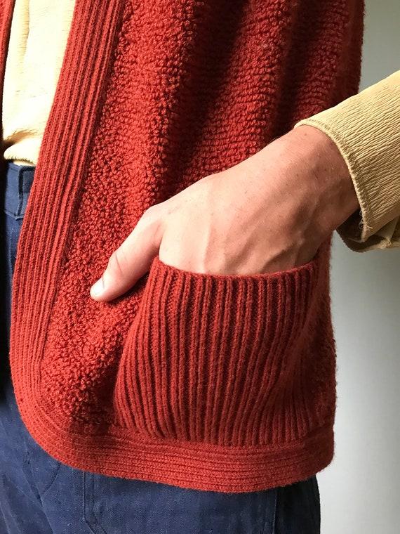 Vintage 70s Rust Sweater Vest - image 4