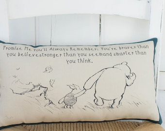 645a08617b02 Winnie the Pooh Promise Me Gift. Complete Pillow. Gift for Mom