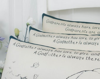 Winnie the Pooh GodParents Complete mini Pillow Christening Gift
