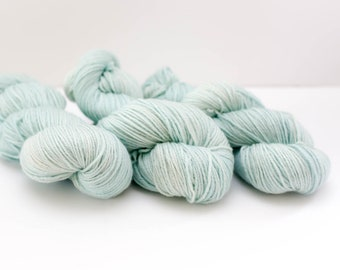 Hand Dyed Yarn - New Merino DK, Extra Fine Merino - Peppermint