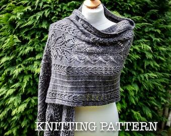 Knitting Pattern/DIY Instructions - The Blackstone Wrap