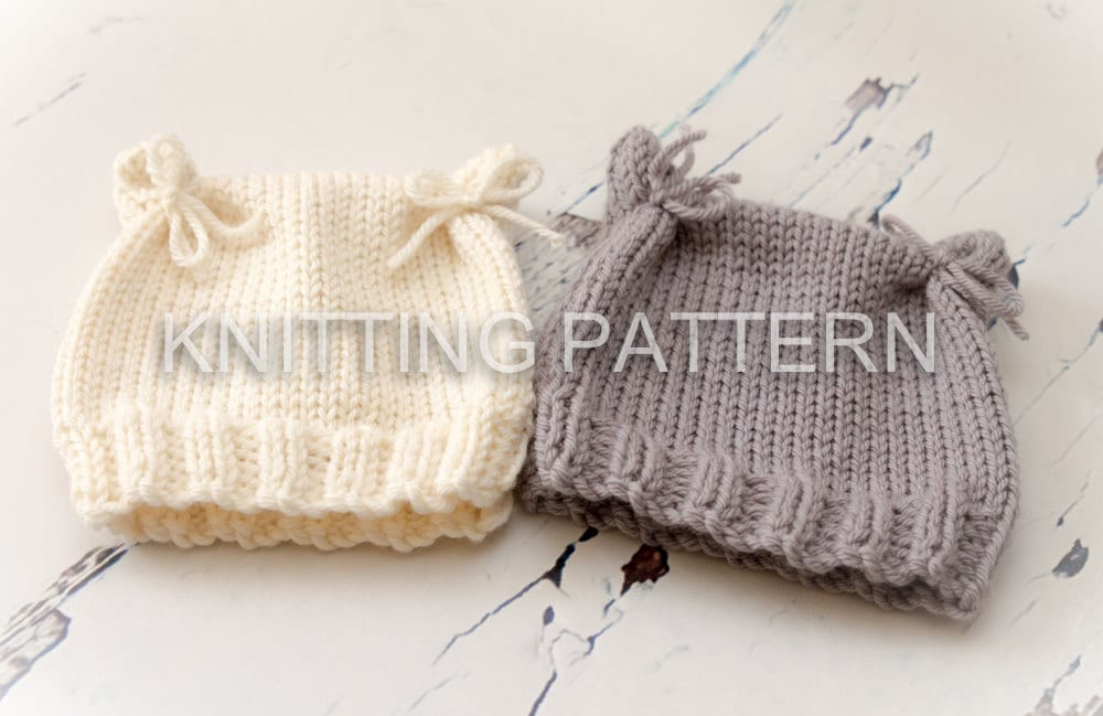 79ca7c8d55c Knitting Pattern DIY Instructions Cat Ears Baby Beanie Hat