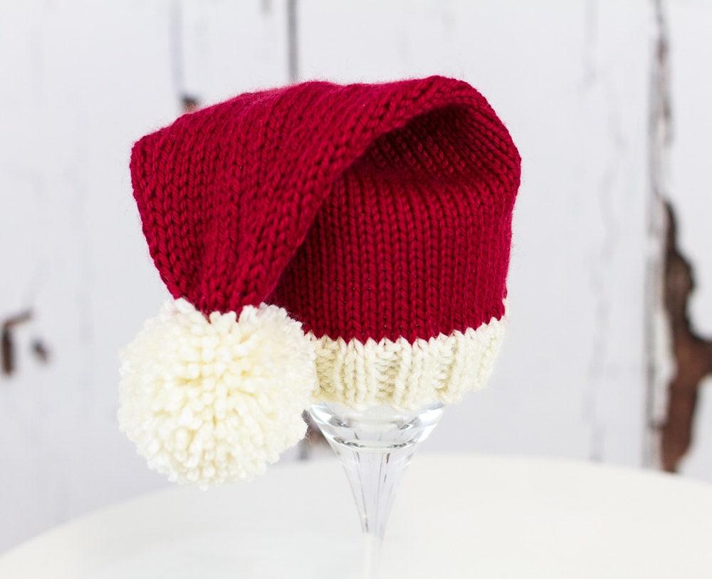 Knitting Pattern/DIY Instructions Baby Santa Hat | Etsy