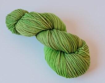 Hand Dyed Yarn - Squishy Merino 4ply/Fingering, Superwash Wool - Chartreuse