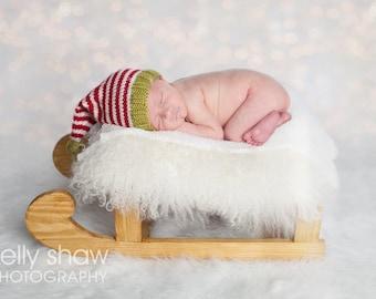 Knitting Pattern/DIY Instructions - Baby Christmas Elf Hat