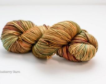 Hand Dyed Yarn - Squishy Merino 4ply/Fingering, Superwash Wool - Here Comes Autumn