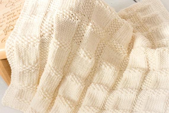 Muster/DIY-Anleitungen stricken Gingham Check Babydecke | Etsy