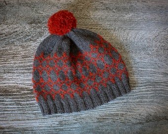 Knitting Pattern/DIY Instructions - Beacons Beanie Hat - Children, Adult, DK/Worsted weight yarn