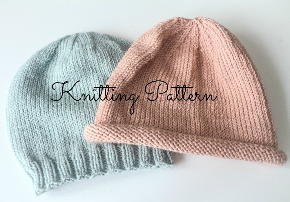 a87a977739c Knitting Pattern DIY Instructions - Basics Beanie Hat - Babies   Toddlers