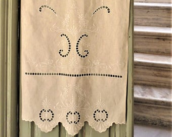 Beige cutwork curtain-Home decor-Cottage chic-2521