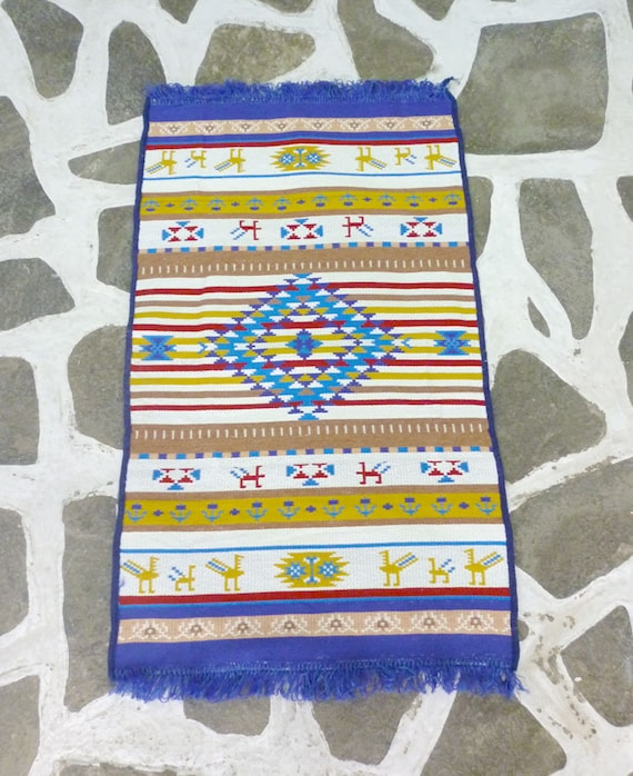 Cotton Woven Kilim/ Rug Tribal Designs Traditional &