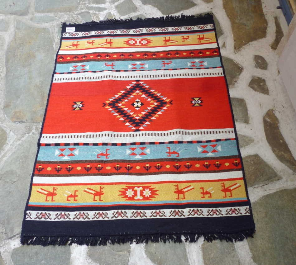Cotton Woven Kilim / Rug Greek Product /quality Ecology