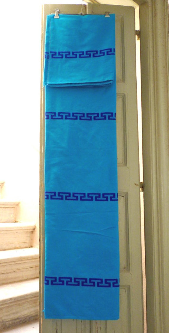 Single bed cover Greek product Modern countrystyle Colorful throw Traditional woven bedspread in the electric loom