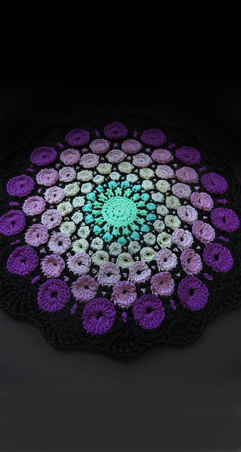Stone Mandala Crochet Pattern Sacred Geometry Mandala Etsy