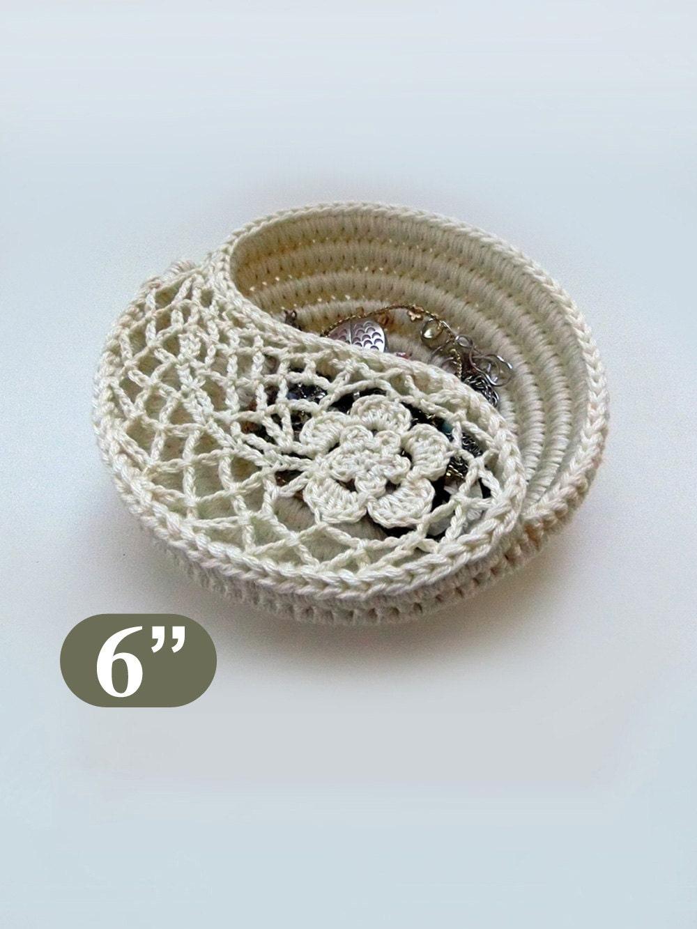 Crochet Pattern 6 Yin Yang Jewelry Dish Crochet Home Etsy