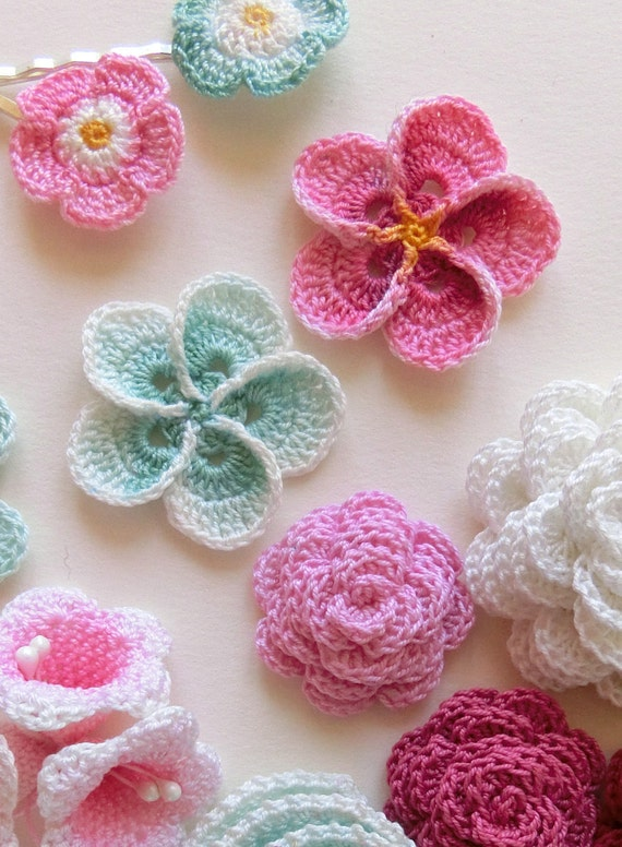 Crochet Flower Pattern Crochet Plumeria Frangipani Pattern Photo