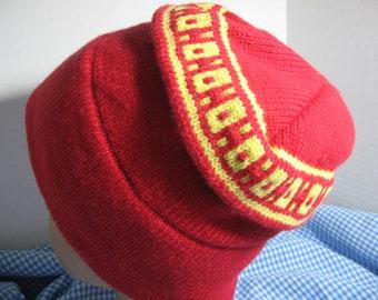Vintage 1980s Marolt Red Knit winter hat 599399830f2a