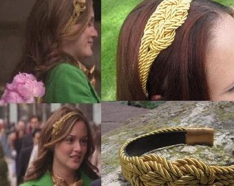 Blair Waldorf Inspirierte Gold Segeltau Stirnband