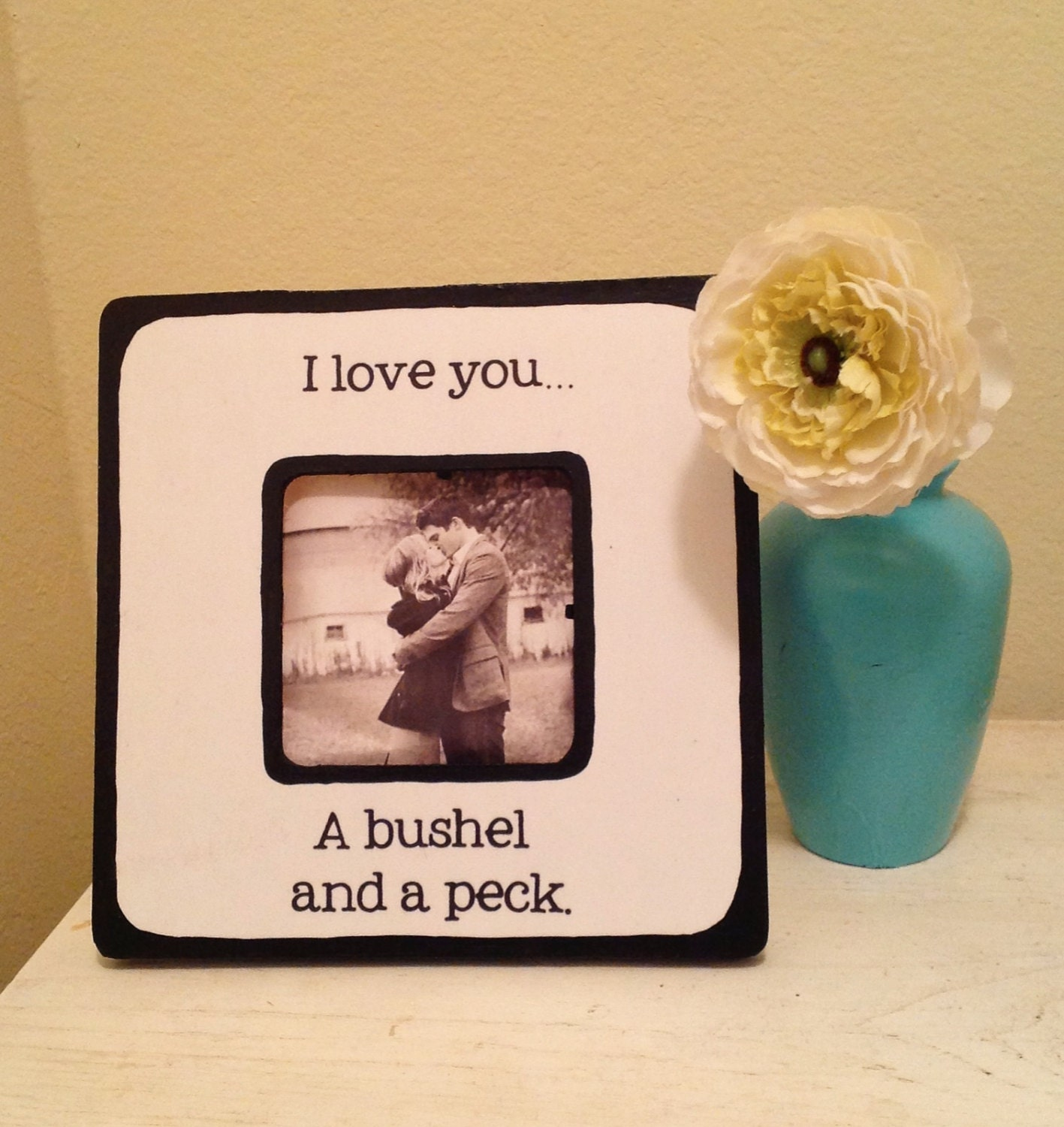 Quote I love you a bushel a peck Picture Frame | Etsy