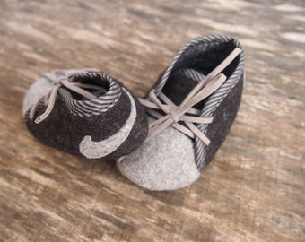 Baby boy NIKE  felt shoes, baby boy gift, Baby handmade shoes, Made to order