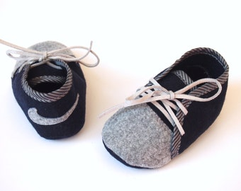 Baby boy NIKE  felt shoes, baby boy gift, Baby handmade shoes