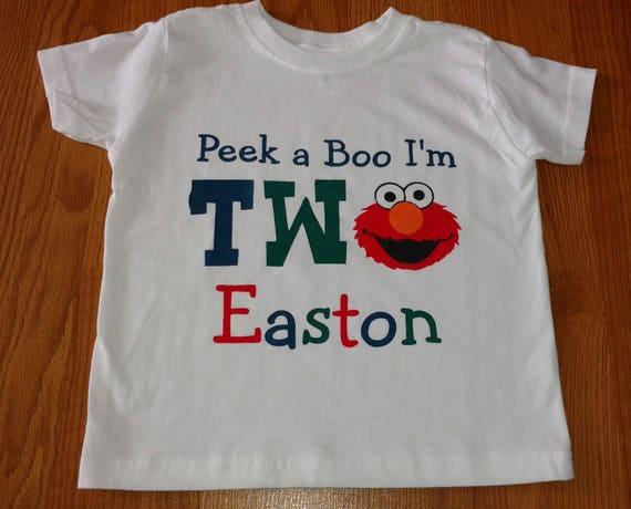 Elmo Sesame Street Peek A Boo Im TWO 2nd Birthday