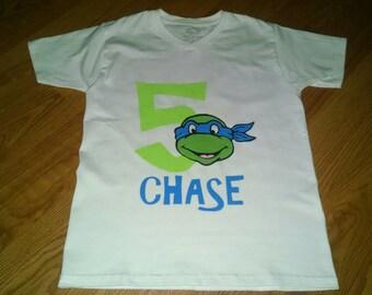 Ninja Turtles 5th Birthday Boy T-Shirt - Personalized