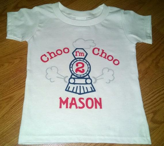 Choo Im 2 Train Theme 2nd Birthday Boy Bodysuit Or