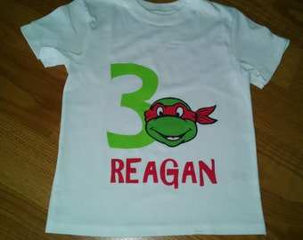 Ninja Turtles 3rd Birthday Boy T-Shirt - Personalized