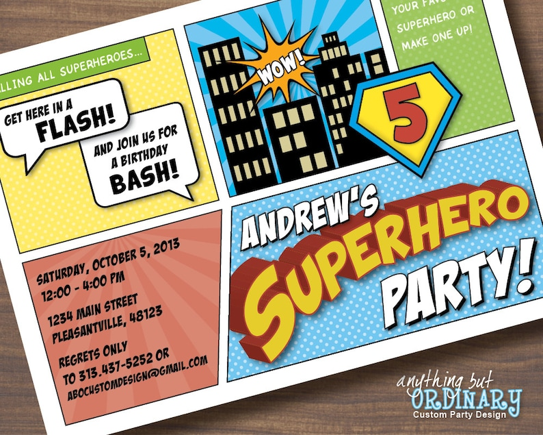 photograph about Printable Superhero Invitations titled Superhero Birthday Invites, Printable Superhero Invites, Comedian Ebook Tremendous Hero Invitations, Do it yourself electronic document