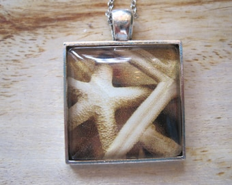 Starfish Sterling Cabochon Pendant Necklace - Starfish - Sterling Jewelry - Nautical Jewelry - Beach Jewelry - Starfish Necklace