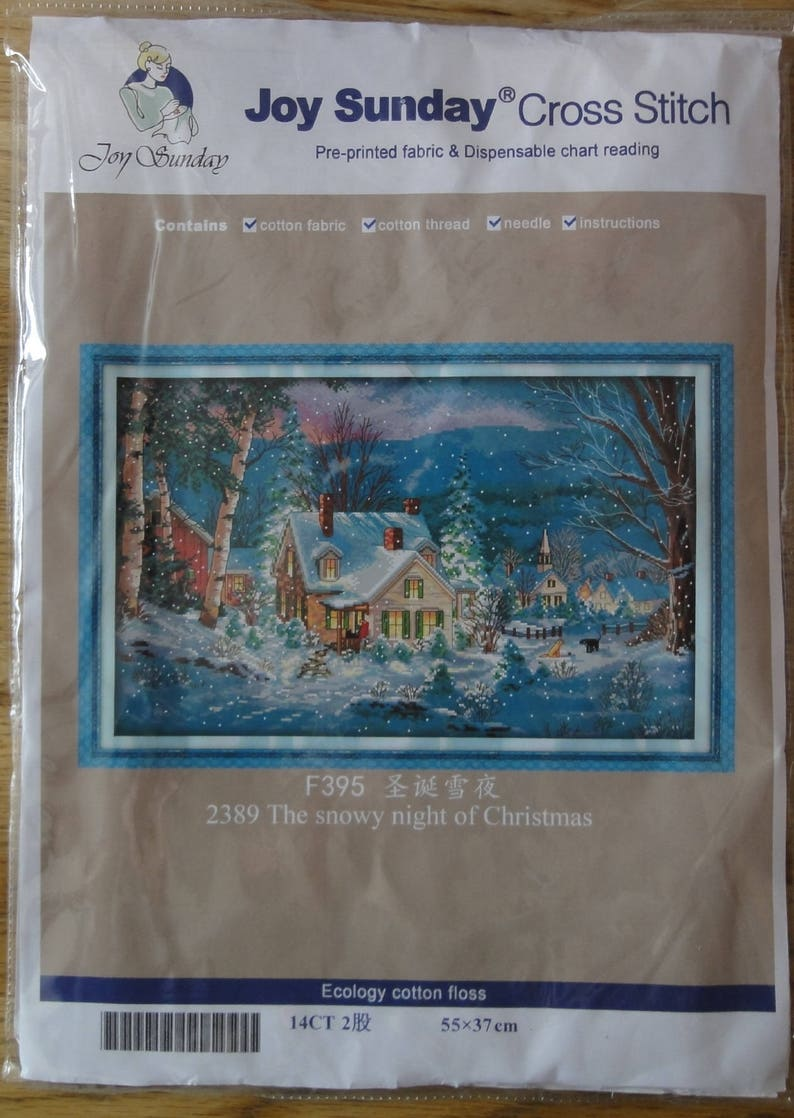 The Snowy Night of Christmas Counted Cross Stitch Sets scenery Cross Stitch