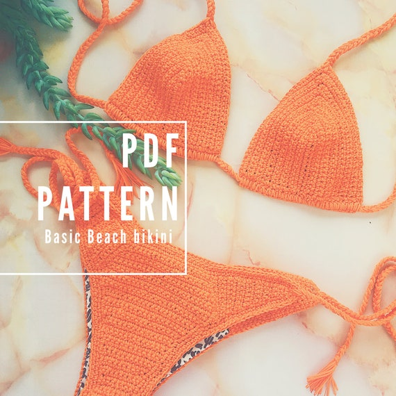 Crochet Pattern for Basic Beach Bikini